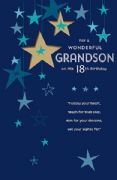 18 Grandson Birthday Card